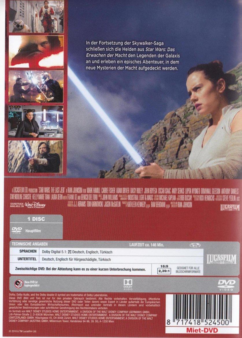 Star Wars Die Letzten Jedi Dvd Release