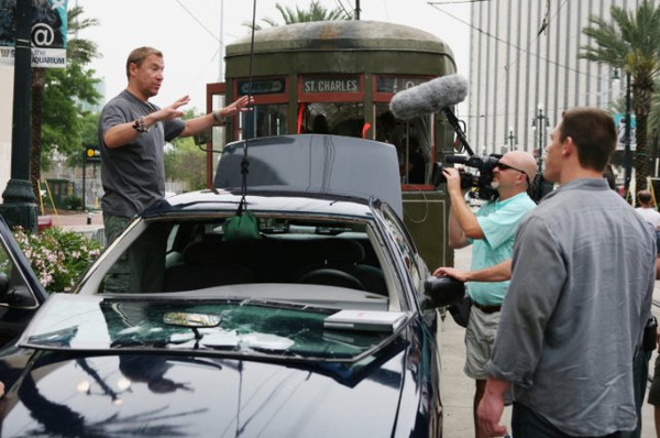Renny Harlin und John Cena beim Dreh zu 'Zwölf Runden'