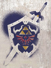 The Legend Of Zelda Hylian Shield Stencil powered by EMP (Leinwandbild)