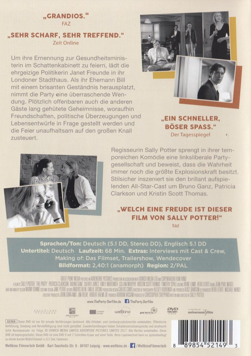 The Party: DVD oder Blu-ray leihen - VIDEOBUSTER.de  The Party: DVD ...