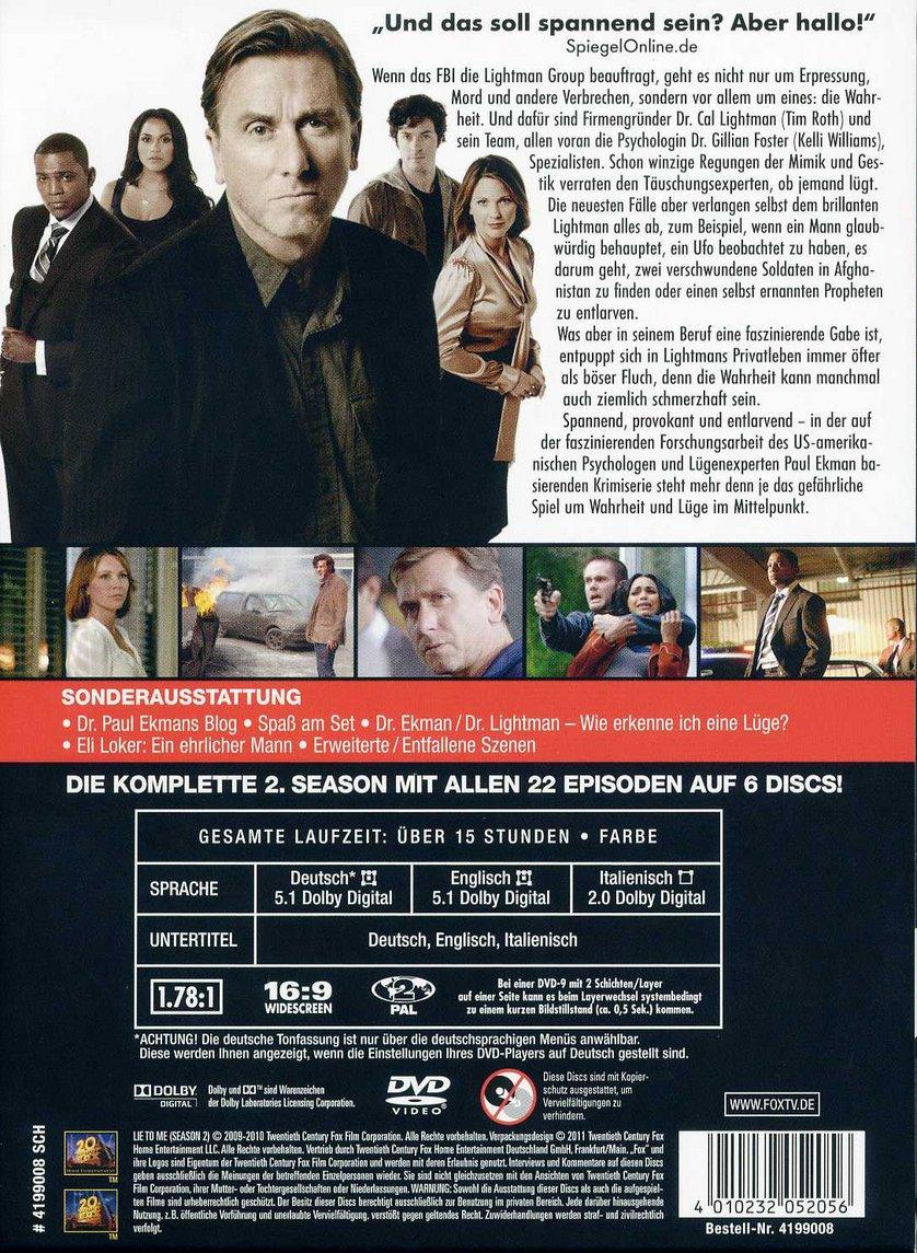 Lie To Me Staffel 2 Dvd Oder Blu Ray Leihen Videobusterde