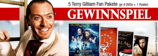 Terry Gilliam Gewinnspiel: Fantastische Filme eines fanatischen Regisseurs