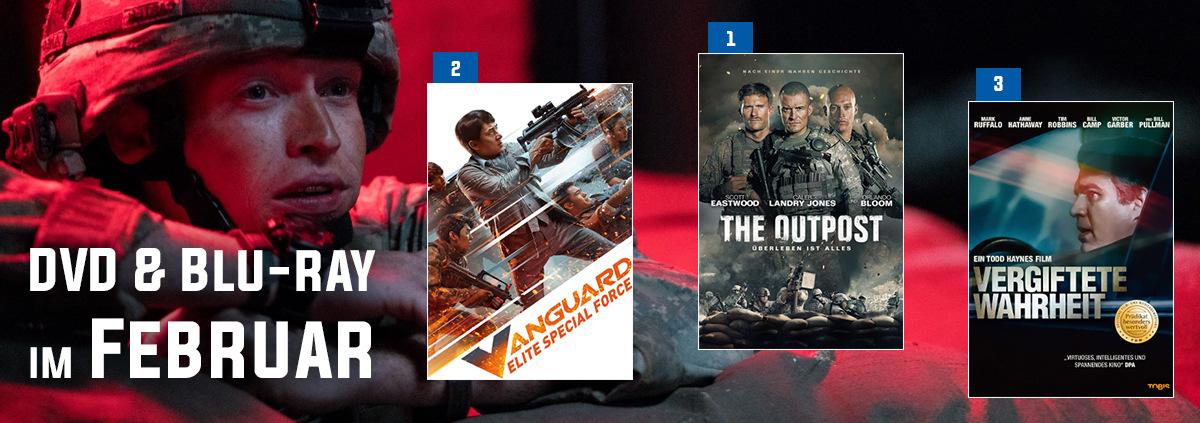 DVD & Blu-ray Charts 02-2021: The Outpost stürmt auf den 1. Platz der Februar Charts
