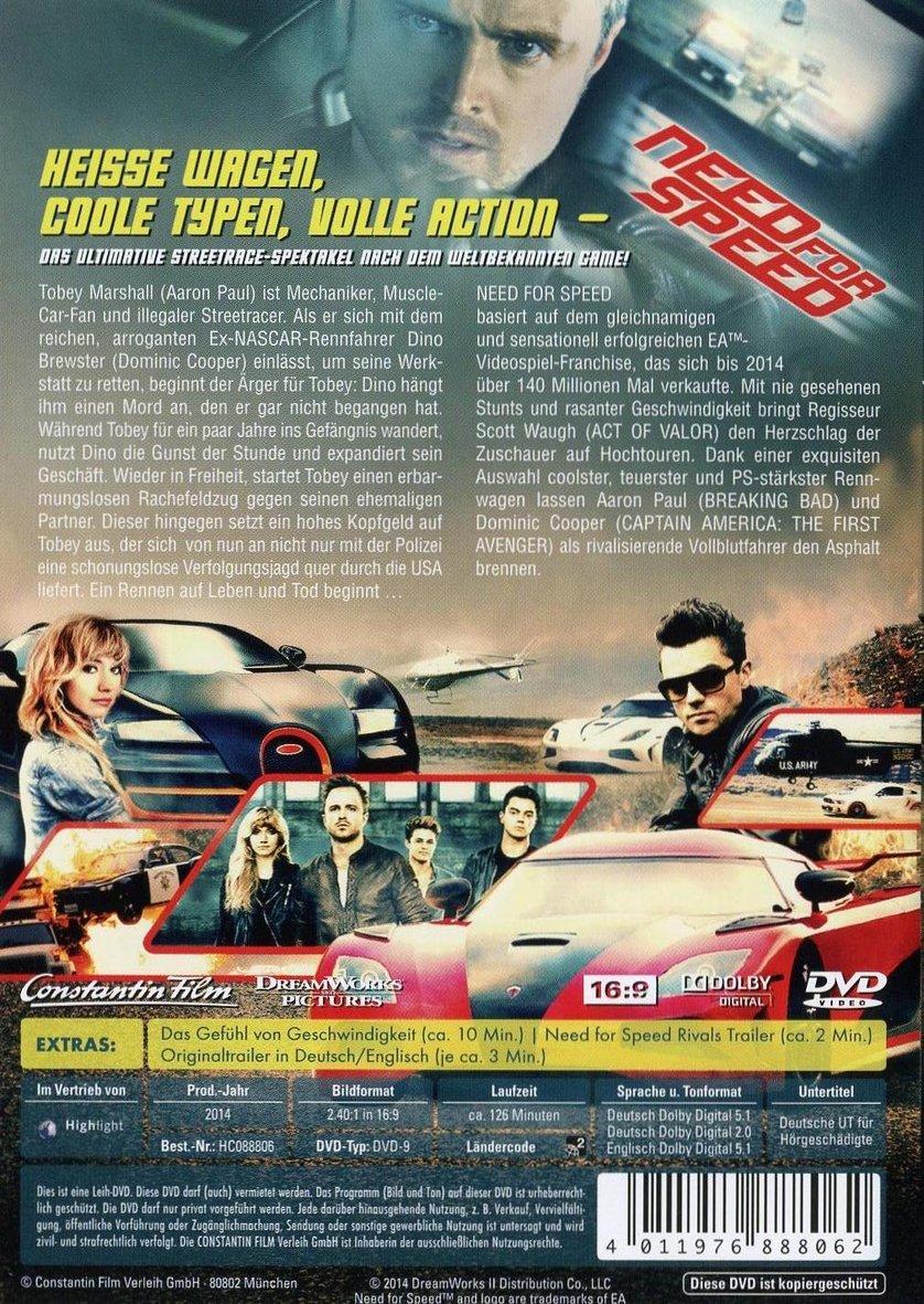 Need For Speed Dvd Blu Ray Oder Vod Leihen Videobusterde