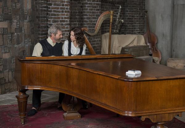 Jeff Bridges mit Taylor Swift, ab 02.10.2014 im Kino in 'The Giver - Hüter der Erinnerung' (2014) © Studiocanal