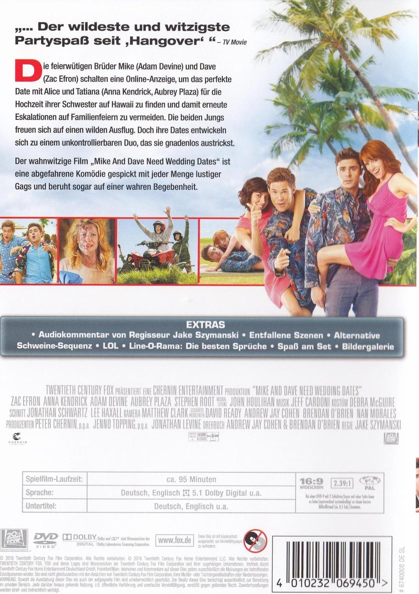 Mike And Dave Need Wedding Dates: DVD Oder Blu-ray Leihen