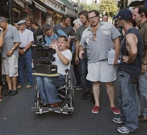 Am Set: Kameramann Kaminski (l.) und Regisseur Schnabel (r.)