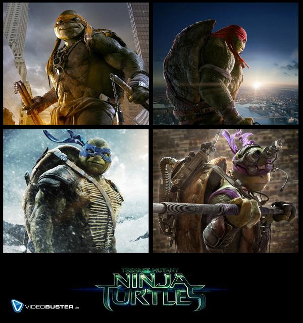 Die 'Teenage Mutant Ninja Turtles' 2014 © Paramount