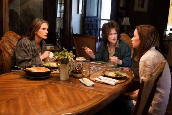 Julia Roberts, Meryl Streep und Julianne Nicholson in 'Im August in Osage County' © TOBIS Film 2013