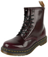 Dr. Martens Vegan 1460 Cherry Red Oxford Rub Off 8 Eye Boot powered by EMP (Boot)