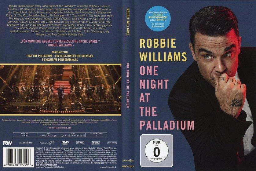 tilata aito virallinen Robbie Williams - One Night at the Palladium: DVD oder Blu ...