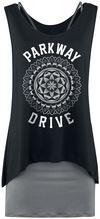 Parkway Drive Ornament Kurzes Kleid schwarz charcoal powered by EMP (Kurzes Kleid)