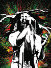 Bob Marley Colour powered by EMP (Leinwandbild)