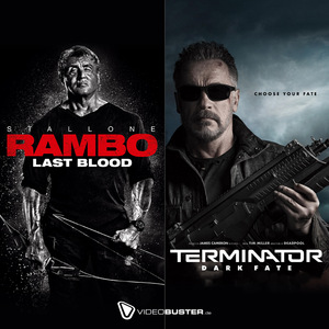 Sylvester Stallone in 'Rambo 5 - Last Blood' © Millennium + Arnold Schwarzenegger in 'Terminator 6 - Dark Fate' © 20th Century Fox