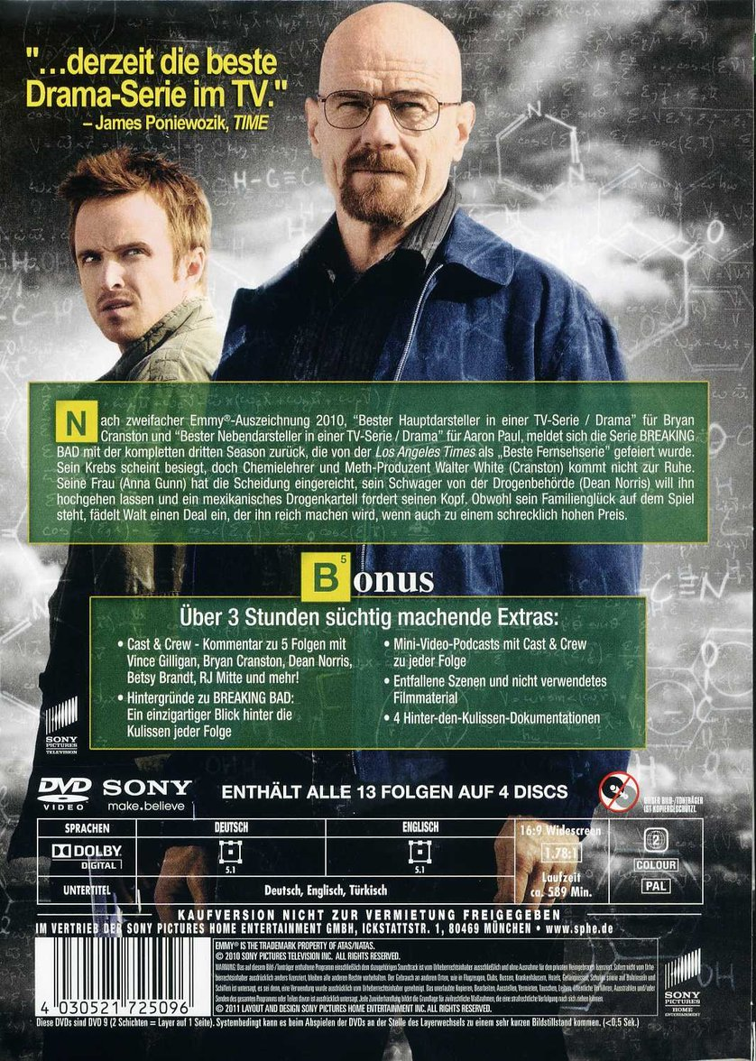 Breaking Bad Staffel 3 Dvd Oder Blu Ray Leihen Videobusterde
