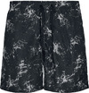 Urban Classics Pattern Swim Shorts - Scratch AOP Badeshort schwarz weiß powered by EMP (Badeshort)
