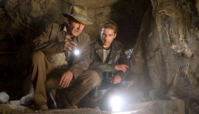 Harrison Ford und Shia LaBeouf in 'Indiana Jones und das Königreich des Kristallschädels' 2008