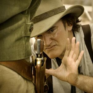 Quentin beim Django-Dreh © Sony