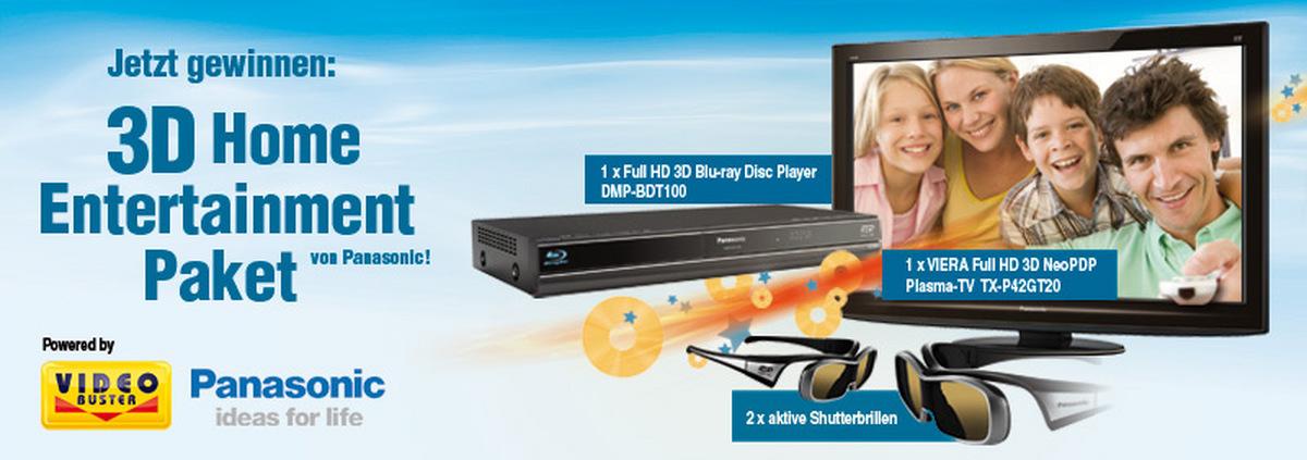 3D Home Entertainment: Gewinnen Sie ein 3D Full-HD Paket für Zuhause!