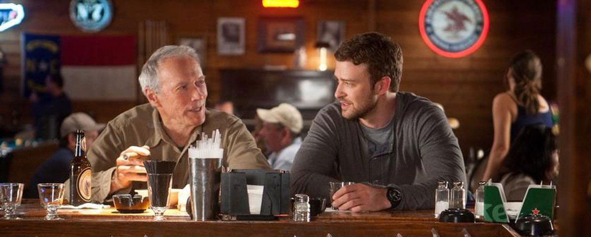 Clint Eastwood und Justin Timberlake in 'Trouble with the Curve' © Warner Home Video