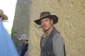 Michael Fassbender in 'Slow West' © Prokino