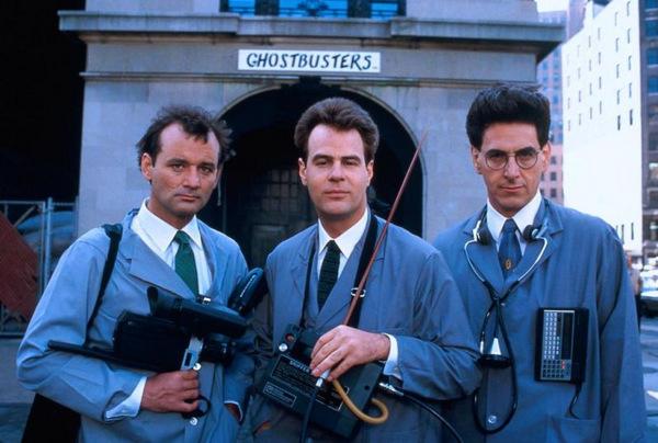 Venkman (Bill Murray), Stantz (Dan Aykroyd) und Spengler (Harold Ramis) als 'Ghostbusters - Die Geisterjäger' 1984 © Columbia Tristar
