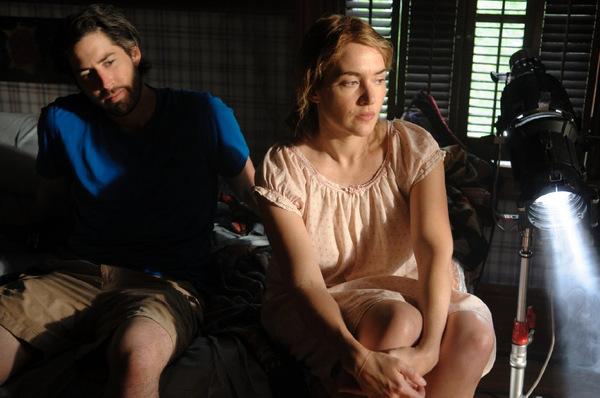 Regisseur Jason Reitman und Kate Winslet beim Dreh zu 'Labor Day'