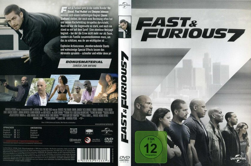 fast furious 7 dvd oder blu ray leihen. Black Bedroom Furniture Sets. Home Design Ideas
