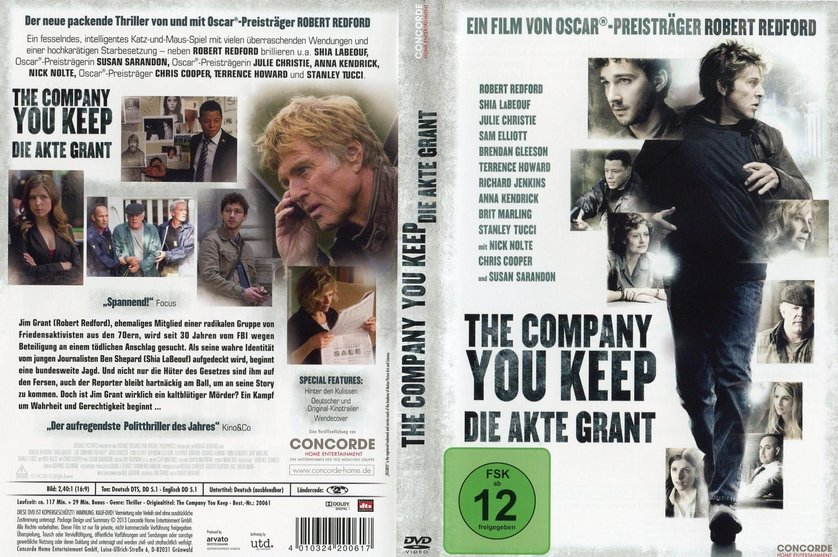 The Company You Keep Dvd Cover