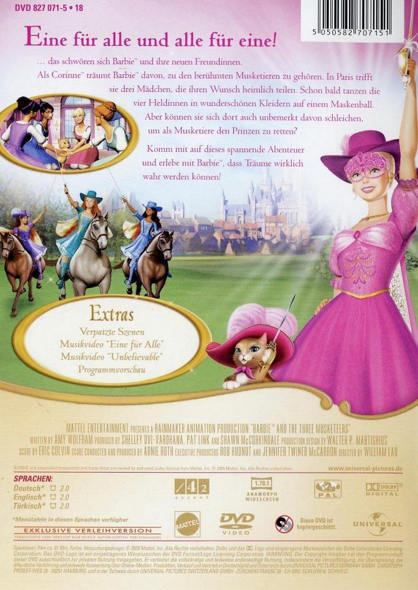 Barbie und Die Drei Musketiere DVD oder Bluray leihen