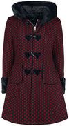 Hell Bunny Amelia Coat Mantel rot schwarz powered by EMP (Mantel)