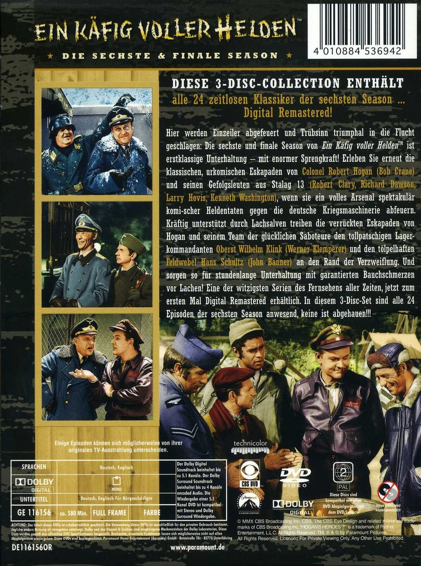 Ein Käfig Voller Helden Staffel 6 Dvd Oder Blu Ray Leihen