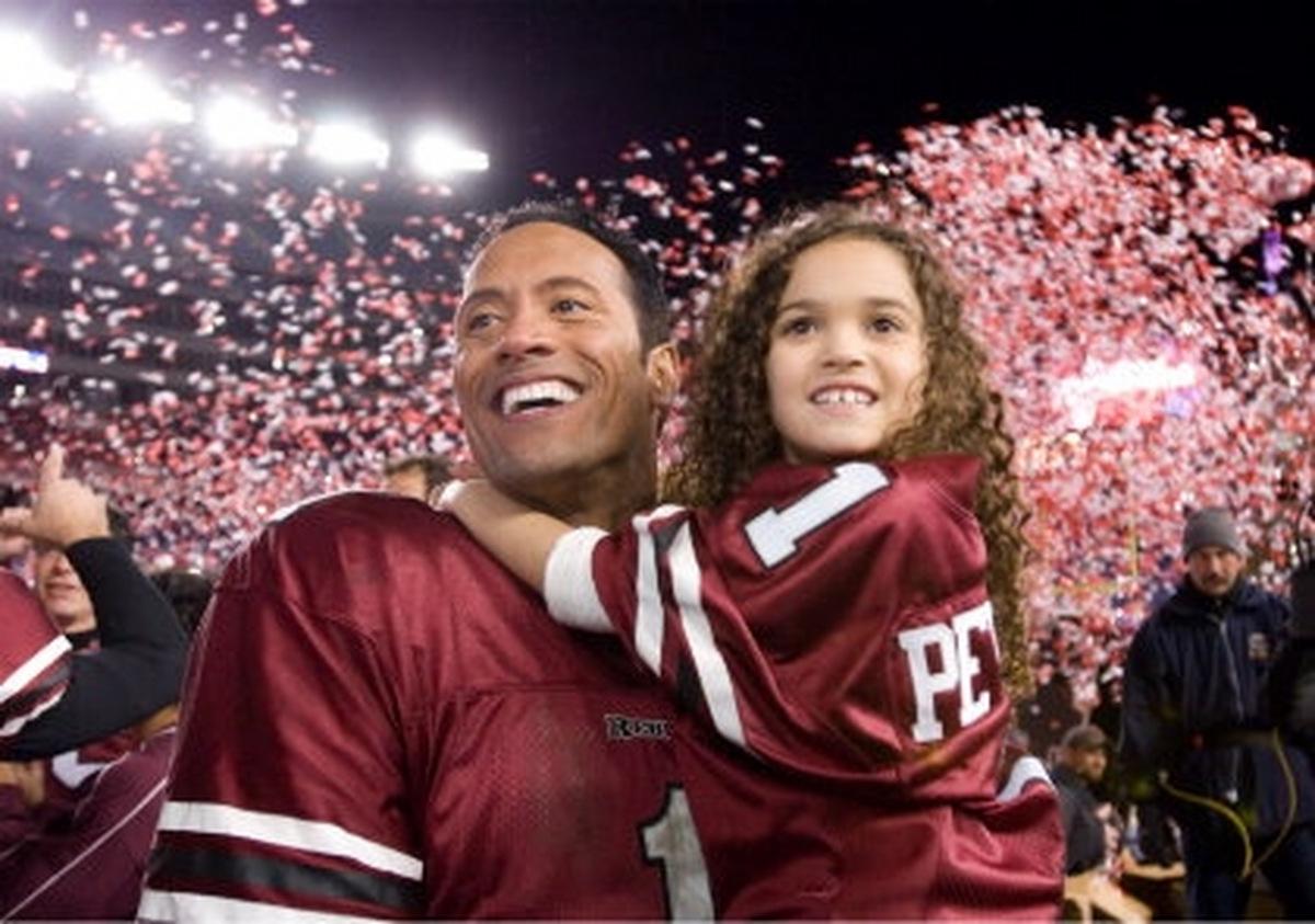 Madison Pettis und Dwayne Johnson in 'Daddy ohne Plan' (USA 2007) © Walt Disney Studios