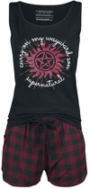 Supernatural Carry On Schlafanzug schwarz rot powered by EMP (Schlafanzug)
