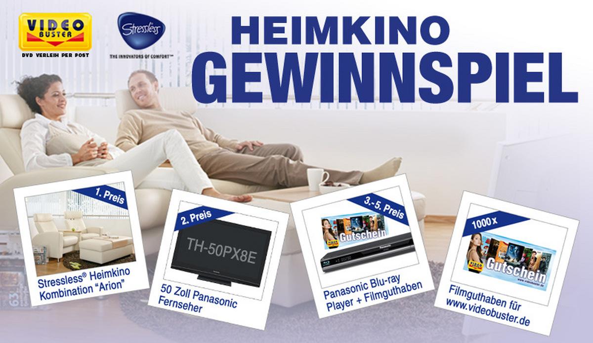 Heimkino-Gewinnspiel: Luxus für Filmfans: Logenplätze, TV, Blu-ray Player