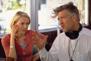 Lynch und Naomi Watts am Set zu 'Mulholland Drive' © Concorde