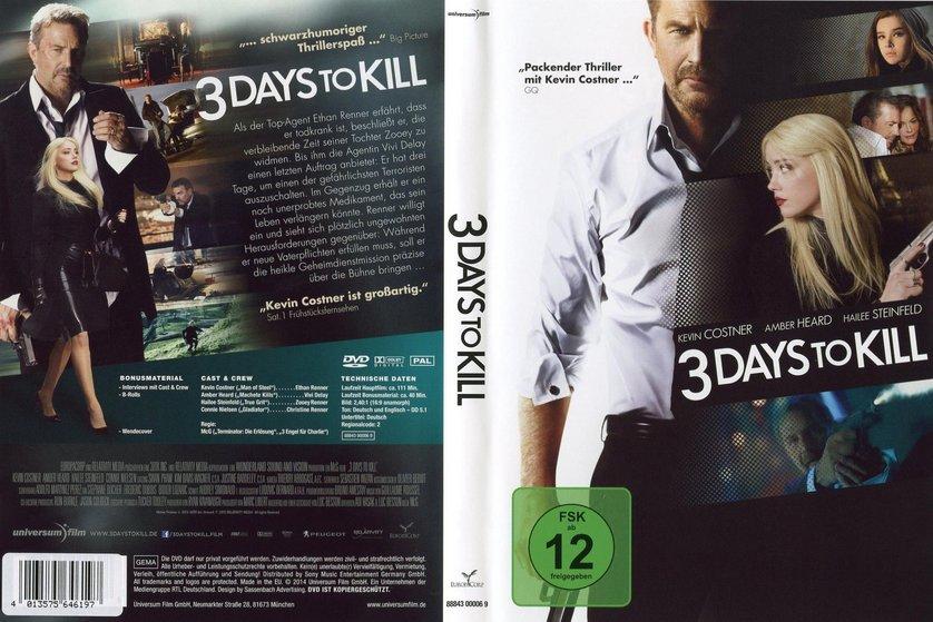 3 days to kill dvd blu ray oder vod leihen. Black Bedroom Furniture Sets. Home Design Ideas