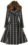 Hell Bunny Brooklyn Coat Mantel schwarz braun powered by EMP (Mantel)