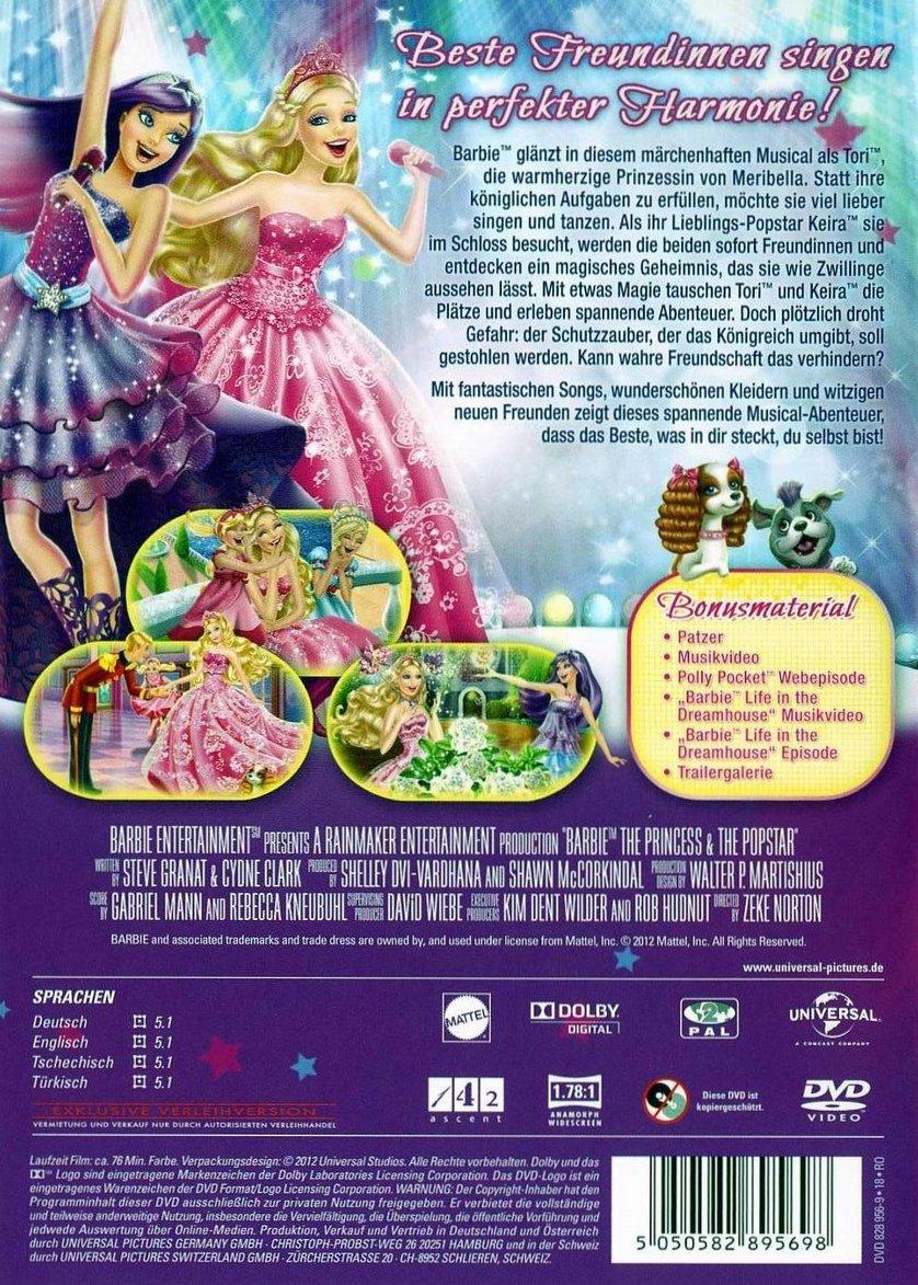 Barbie  Die Prinzessin und der Popstar DVD oder Bluray leihen