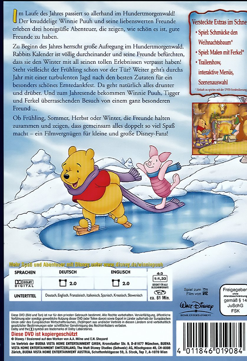 Winnie Puuh  Lustige Jahreszeiten im Hundertmorgenwald DVD oder