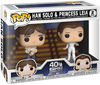 Star Wars Empire Strikes Back 40th Anniversary - Han Solo & Princess Leia (2-Figuren) Vinyl Figur powered by EMP (Funko Pop!)