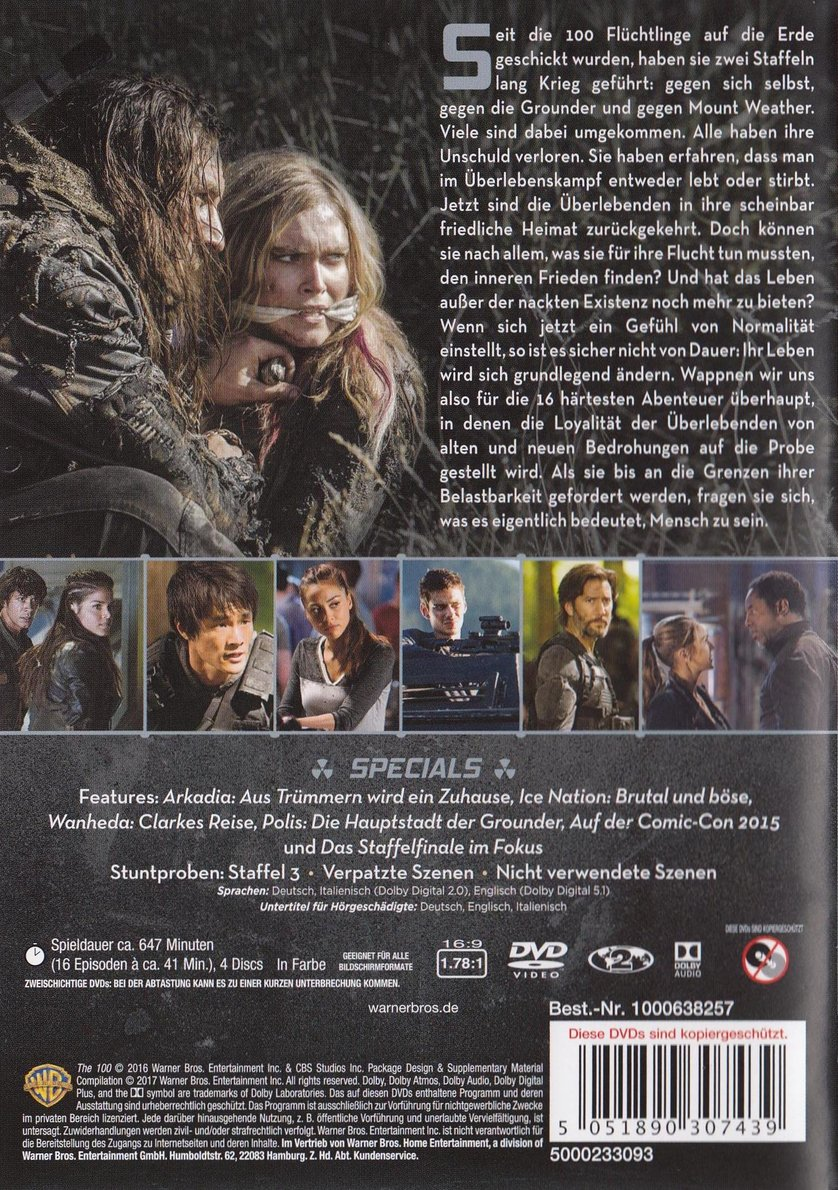 The 100 Staffel 3 Dvd