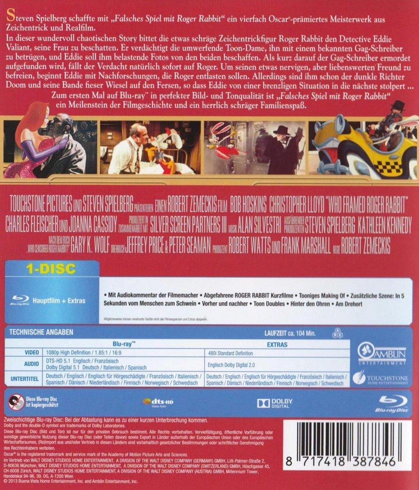 Falsches Spiel mit Roger Rabbit: DVD oder Blu-ray leihen ...