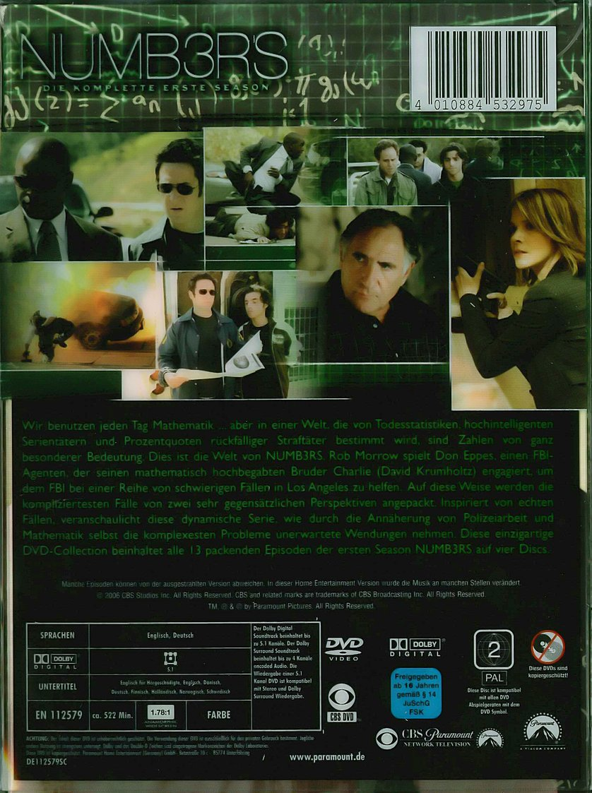 Numb3rs Staffel 1 Dvd Oder Blu Ray Leihen Videobusterde