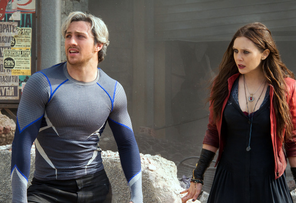 2015 als Quicksilver & Scarlet Witch in 'Avengers 2' © Marvel