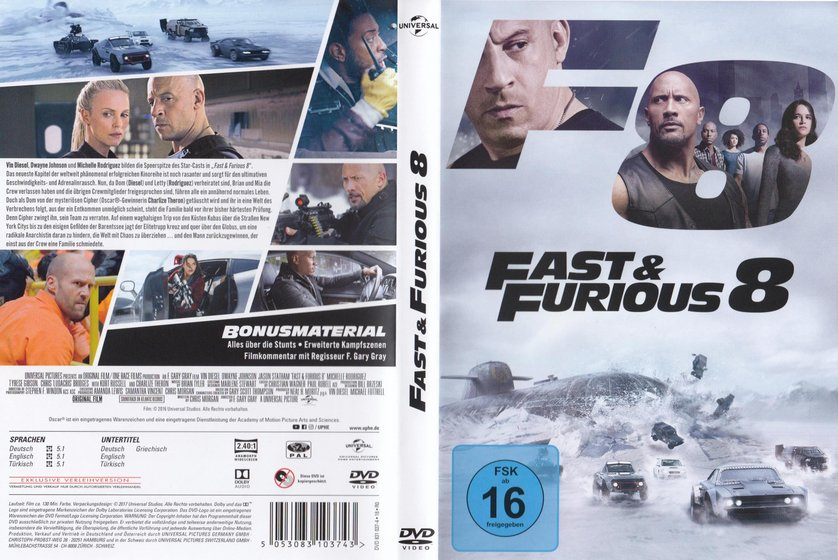 fast furious 8 dvd oder blu ray leihen. Black Bedroom Furniture Sets. Home Design Ideas