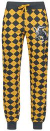 Harry Potter Hufflepuff Pyjama-Hose grau gelb powered by EMP (Pyjama-Hose)