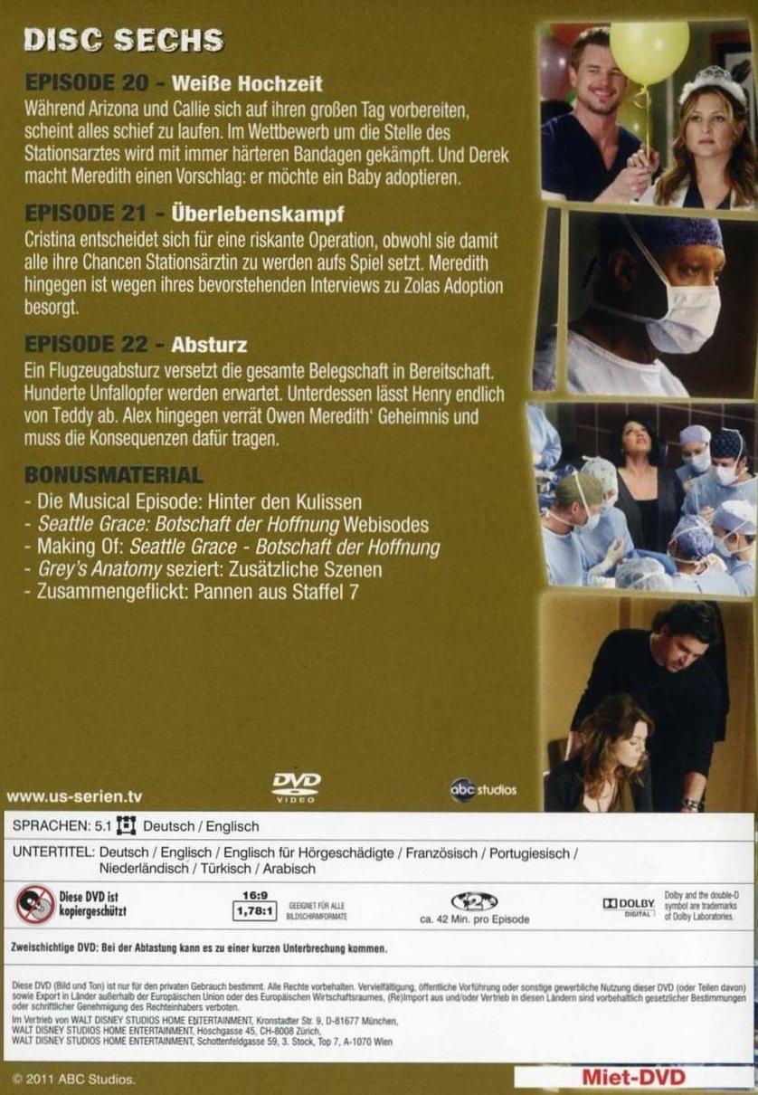 Greys Anatomy Staffel 7 Dvd Oder Blu Ray Leihen Videobuster