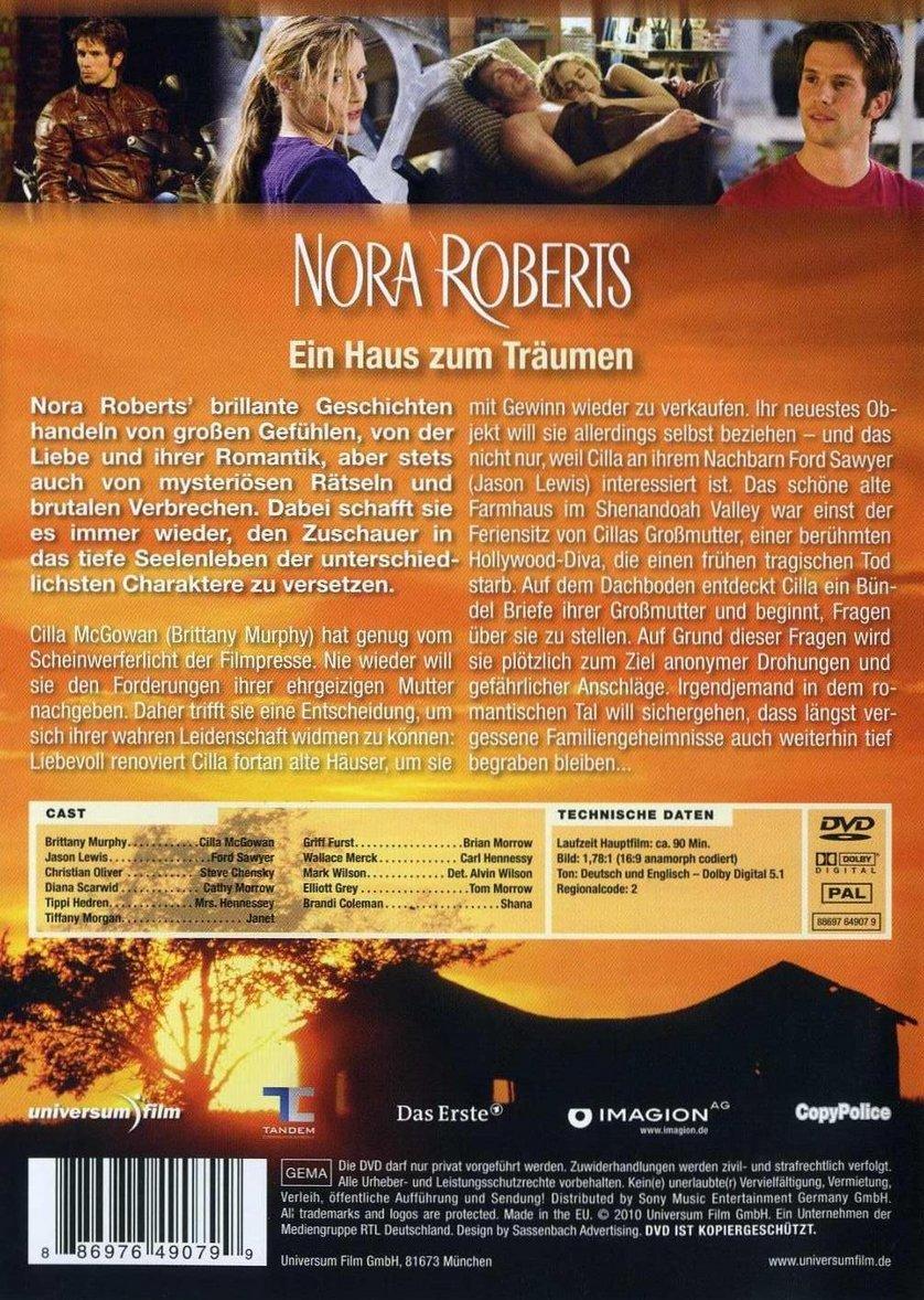 nora roberts ein haus zum tr umen dvd oder blu ray. Black Bedroom Furniture Sets. Home Design Ideas