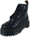 Dr. Martens Sinclair Black Smooth and Black Zebra Gloss Emboss Smooth Jungle Boot powered by EMP (Boot)